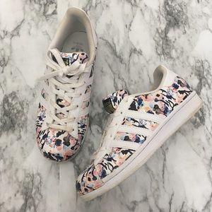 adidas superstar floral watercolor